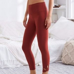 Aerie Chill 7/8 High Waist Leggings Burnt Orange